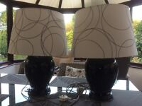 Pair of LargeTable Lamps with built in speakers