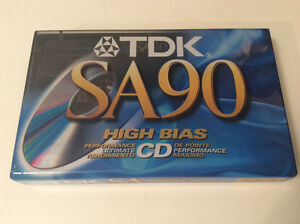 TDK SA90 five cassette tapes