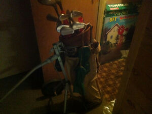 Golf Clubs with cart