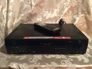 JVC VHS VCR with Universal Remote Control