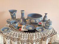 Wedgwood pottery jasperware. 10 items