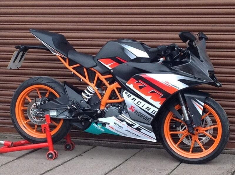ktm rc 125 abs 2015 only 7331 miles delivery available. Black Bedroom Furniture Sets. Home Design Ideas