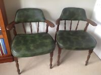 Vintage captains chairs