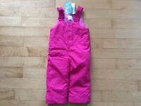 New with tags girls 2T Children's Place snowpants