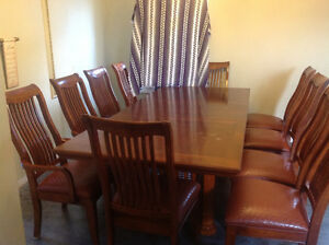 Diningroom table and 10 Chairs Cambridge Kitchener Area image 1