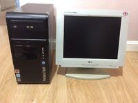 """Packard Bell iStart PC with LG 15"""" LCD Monitor"""