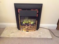 Dimplex electric fire with remote control with marble base
