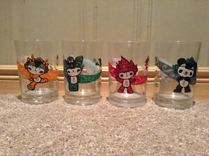 Set of 4 McDonald's Beijing Olympic glasses 2008 --NEW PRICE!