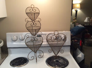 Heart Stand and Wall Sconce