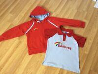 Rainbows polo shirt and hooded jacket small (5-6 yrs)