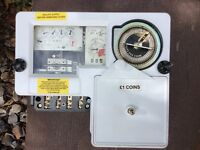 Modern pound coin electric meter very little use can post