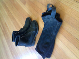 Children's paddock boots and half chaps