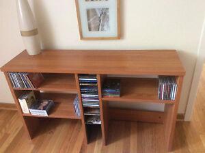 Meuble étagère pour CD et livres