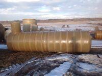 Fiberglass water and septic tanks