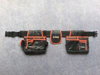 Heavy Duty Double Tool Belt Joiners Carpenter Builders Nails Pouch