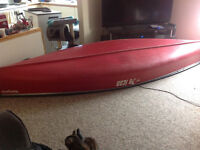13.5 FT Pelican Canoe with Trolling Motor and Battery