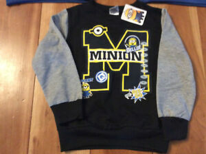 New! Despicable me minion sweatshirt size 6 or 6X