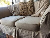 2 seater sofa with washable covers and spare set of covers