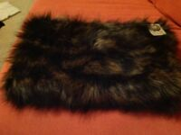 Faux fur shrug by Accessorize