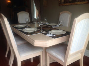 Bleached Oak Dining Set-Price Reduced