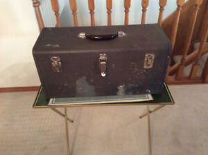 Hand Tools. Metal tool box.