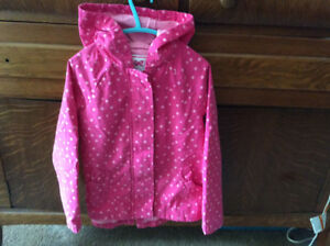 Girls fall rain jacket , size 5-6