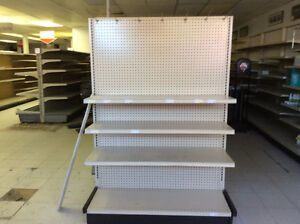 Steel grocery store shelving