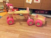 ELC wooden bike and detachable trailer
