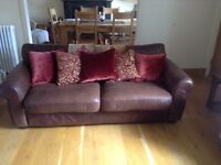 John Lewis Leather Sofa