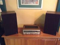 Système de son vintage PIONNER SX820 et hauts parleurs CL-70