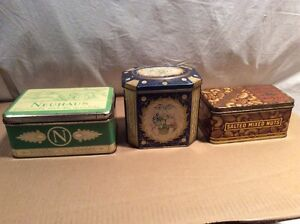 Lot of three vintage and collectable tins.