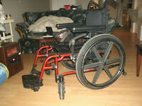 "Nighthawk, top end 19"" seat wheelchair."