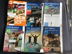 Joblot Bundle of 6 A-Level/AS-Level Course Books Religious Studies, History, Business, ICT...