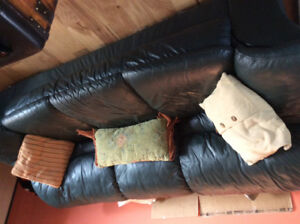 leather couch, loveseat and chair for sale
