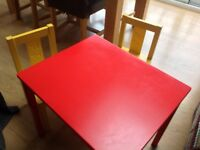 Kids table and chairs from IKEA