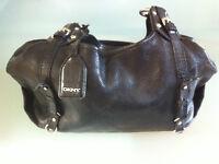 URGENT - Sac DKNY purse, handbag - cui noir, black leather