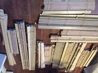Tan - Faux wood custom blinds in various sizes