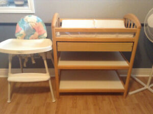 Change table and high chair