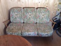 Ercol 3 Seater Sofa CUSHIONS & COVERS ONLY.