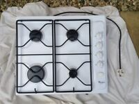 Double electric oven and gas hob