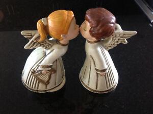 Vintage Kissing Angels Figurine Set, 2 pc