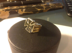 Iron Cross Ring 1985Great chunky piece silver , size 9