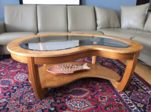 Kidney-shaped Coffee Table.