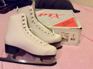 Girls Size 4 White Figues Skakes - Brand New, Never Used.