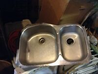 Two well sink with free countertop!