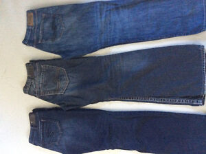 Ladies and Mens Silver Jeans