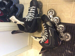 Bauer Vapor X rolling skates in perfect condition