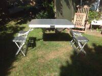 Pyramid Aluminium Folding Camping Table and Chairs