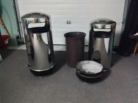Commercial grade stainless steal garbage cans