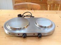 Russell Hobbs portable electric two plate hob